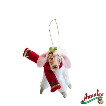 Annalee Mobilitee Christmas Delights Lamb Ornament 4″