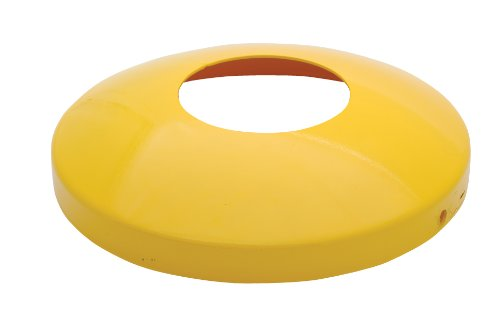 """Vestil Dome-5.5 Protective Dome Cover For 5-1/2"""" Bollards For Lp Tank Drum, Steel, 14"""" Od, 3"""" Height"""