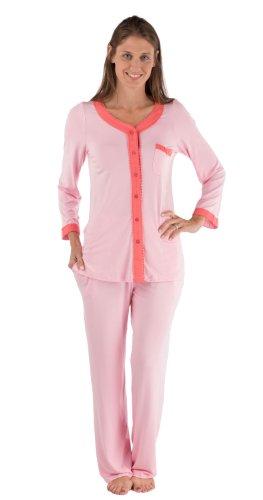 Womens Comfortable Pajamas Sleepwear Set Warm As Flannel Pjs Wb0005-Crn-Xl front-550994