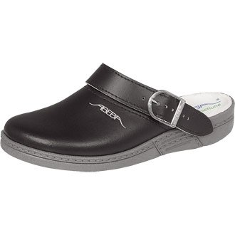 Abeba Leather Clog / Slip On Shoe Black - Size: Euro - 45 / UK - 10.5 - professional shoes for the hospitality and food industry
