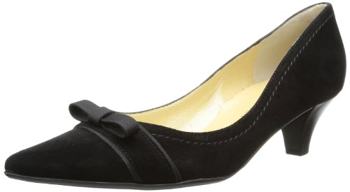 Peter Kaiser GINDY Pumps Womens Black Schwarz (schwarz Suede/Ripsband) Size: 2.5 (35 EU)