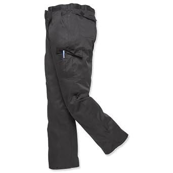 Portwest Combat Trousers Kingsmill Fabric Multiple-pockets Regular 40in Navy Ref C701REGNAVY40