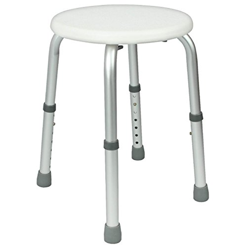 Shower Stool by Vive - Adjustable Bath Seat - Lightweight & Portable Chair for Elderly, Hanicapped, Disabled - Bathroom Safety - Lifetime Guarantee (Shower Seat Corner compare prices)