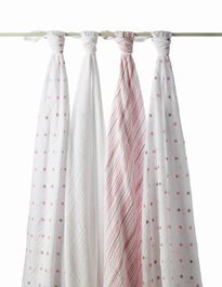 Aden & Anais Oh Girl! Swaddle Wrap 4 Pack