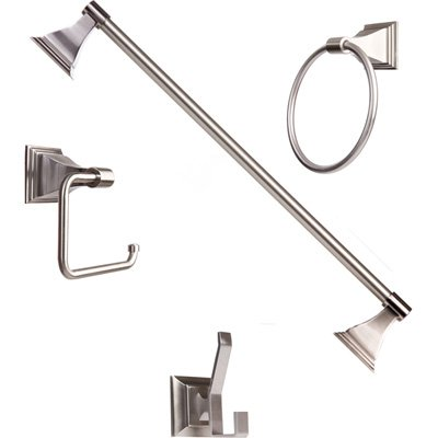 Arista Bath Products Leonard Series 4-Piece Bathroom Accessory Set, Satin Nickel at Sears.com