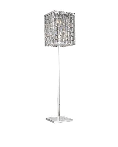 Crystal Lighting Maxim Collection Floor Lamp, Chrome