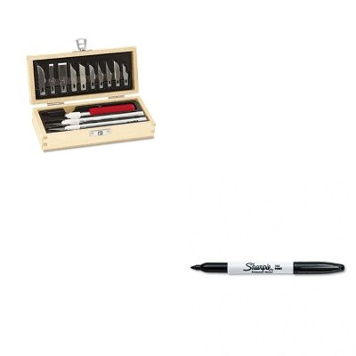 Kitepix5082San30001 - Value Kit - X-Acto Knife Set (Epix5082) And Sharpie Permanent Marker (San30001)