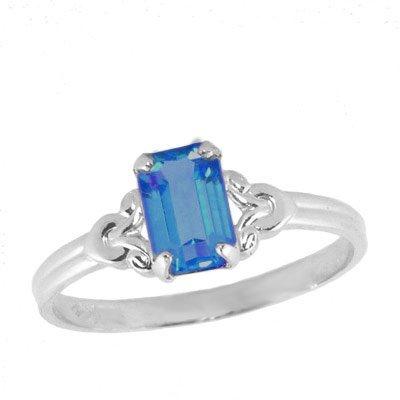 Girls Jewelry - Sterling Silver December Birthstone Ring (size 4)