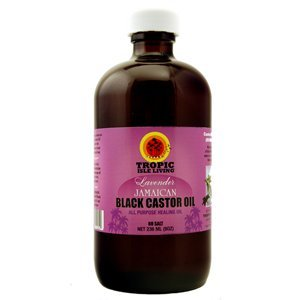 Lavender Jamaican Black Castor Oil 8 Oz by Tropic Isle Living w/ Free Applicator