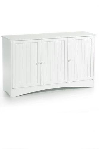 Madison Three-door Lowboy Wood Doors White
