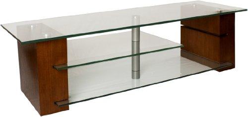 Plateau Balance 59 W Wood And Glass Tv Stand, 59-Inch, Walnut Finish