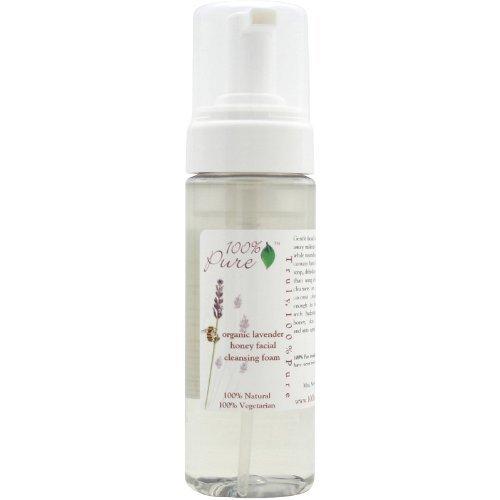 100% Pure Facial Cleansing Foam, Organic Lavender Honey 6 oz (170 g)