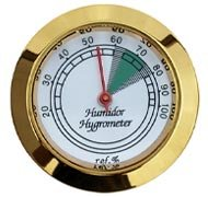 Glass Analog Hygrometer - Gold by Maverick