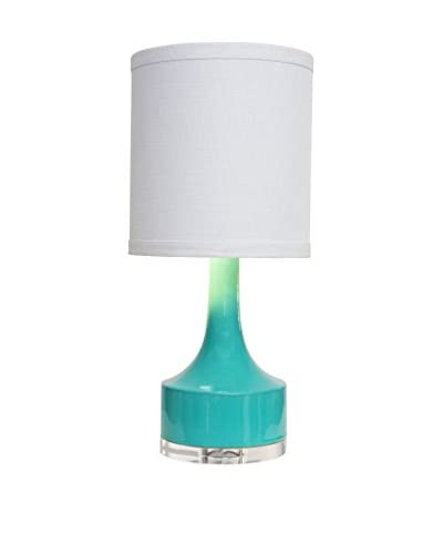 Couture Holmby Table Lamp, Glossy Blue/Green