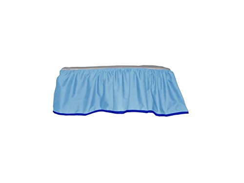Baby Doll Solid Reversible Crib Dust Ruffle, Royal Blue - 1