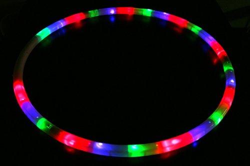 光るレインボーフラフープ