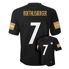 Ben Roethlisberger Pittsburgh Steelers NFL Kids Black 2016-17 Home Jersey
