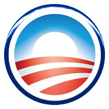 "Amazon.com: 1"" Barack Obama ""Campaign Logo"" Button/Pin: Clothing"