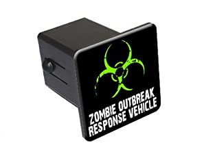 "Zombie Outbreak Response Vehicle - Green - 2"" Tow Trailer Hitch Cover Plug Insert Truck RV from Tow Hitch Covers"