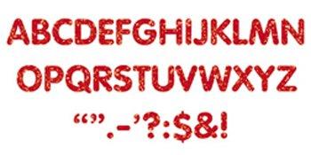 "Trend Enterprises Sparkle Letters & Marks Stick-Eze Stick-On Letters, 2"", Red (T-78301)"