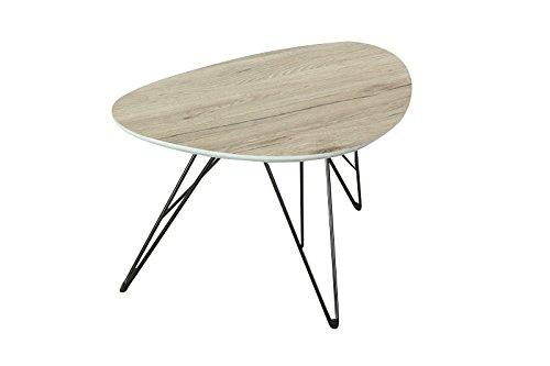 bonVIVO-Design-Couchtisch-CHARLES-Beistelltisch-Nierentisch-im-50er-Jahre-Retro-Look-in-Holz-Optik-und-Metall-Fen-in-schwarz-black-60-x-40-cm