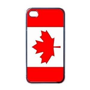 Canada Flag Black Iphone 4 - Iphone 4s Case