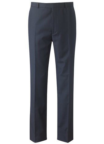 Austin Reed Contemporary Fit Navy Gaberdine Trousers REGULAR MENS 34