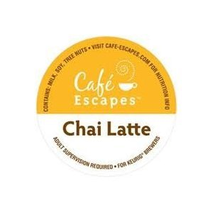 Cafe Escapes Chai Latte Specialty Tea * 2 Boxes Of 24 K-Cups * front-638620