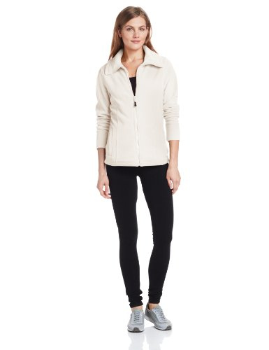 Calvin Klein Performance Women'S Zip Up Polar Fleece Jacket, Milk, Large