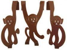 (brown) Door Hanger Monkeys Set Of 3 8714302238604 By Prt