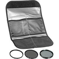 Hoya 52mm (HMC UV / Circular Polarizer / ND8) 3 Digital Filter Set with Pouch