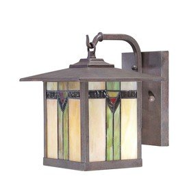 Allen & Roth Tiffany Style Art Glass Aged Bronze - Outdoor
