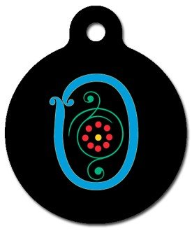 Monogram Letter O Pet ID Tag for Dogs and Cats