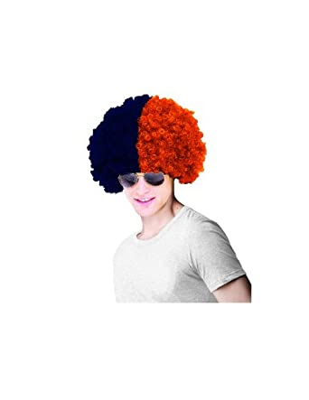 Paper Magic Auburn University Wig, Blue/Orange, One Size