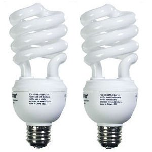 Energy Saving Soft White 3-way Compact Fluorescent CFL Light Bulb - 12/20/26W - 3000K - pack of 2
