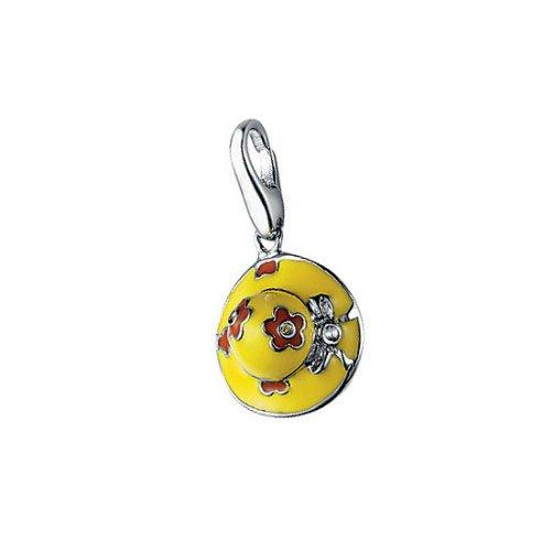 Giorgio Martello Charm Silver 479-810019 Lucky Hat Yellow