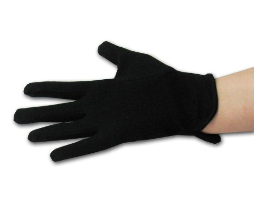 100% Cotton Gloves in White or Black Glove Size and Color: Black Size Medium