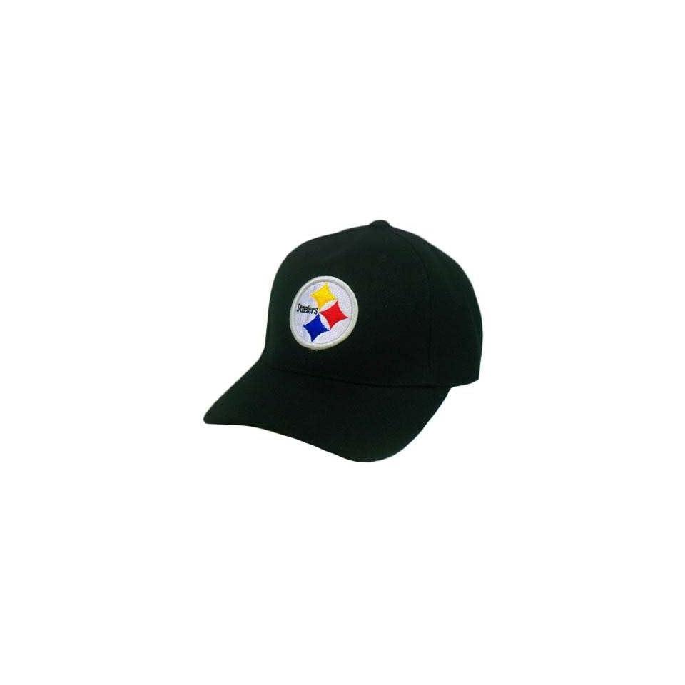 NFL PITTSBURGH STEELERS BLACK AFC COTTON VELCRO HAT CAP