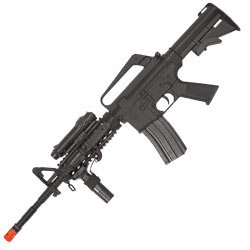 Spring M16 Assault Rifle FPS-200, Red Dot, Laser, 