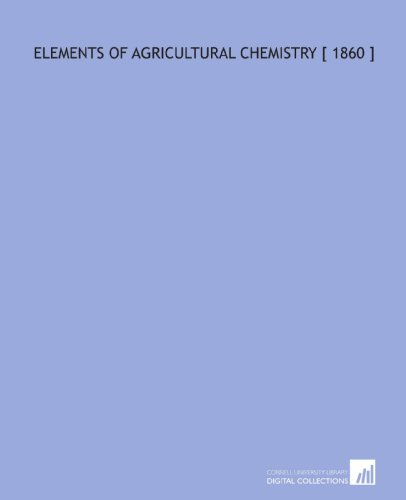 Logo for Elements of Agricultural Chemistry
