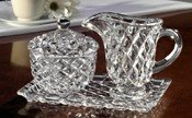 Fifth Avenue Crystal Muirfield Sugar and Creamer Set with Tray by Fifth Avenue Crystal