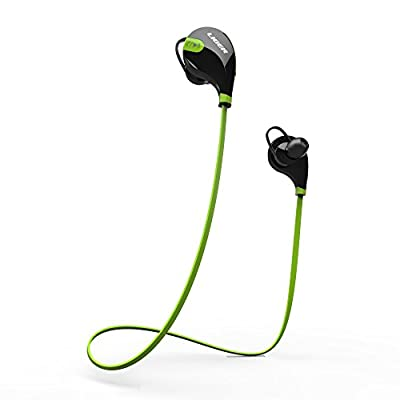 Bluetooth headphones, Liger XS700 Bluetooth Stereo Sweat proof, Jogger, Running, Sport Earbuds with Mic Hands-free Calling (Yellow)