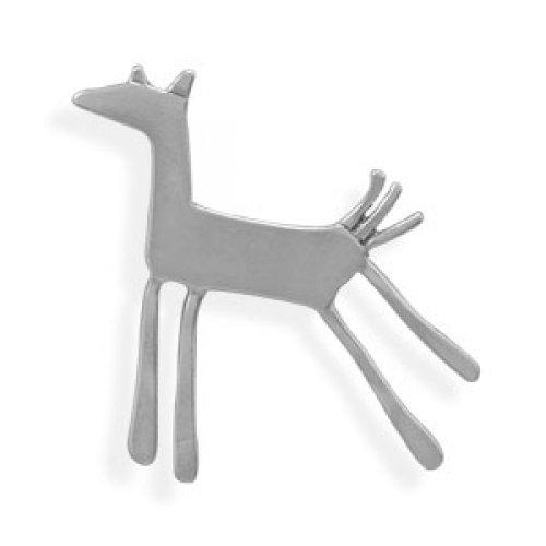 MMA Silver - Oxidized Horse Pin/Pendant