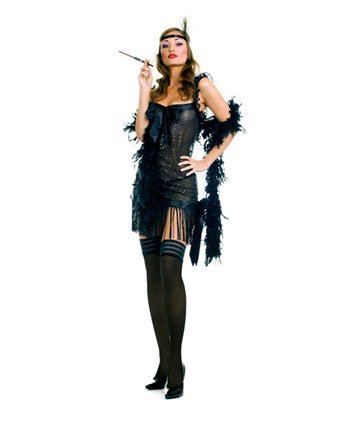 Sexy Sequined Flapper Adult Costume