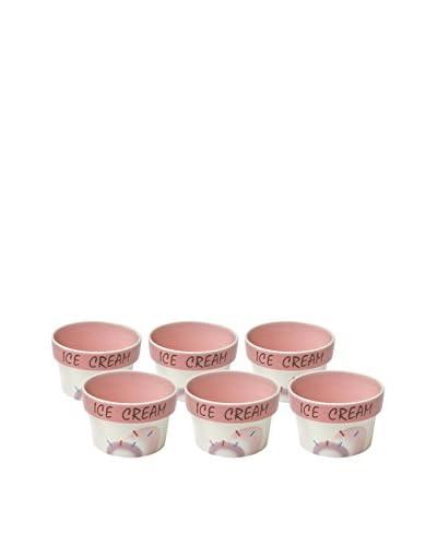 Woodard & Charles Set of 6 Ice Cream Bowls, Pink