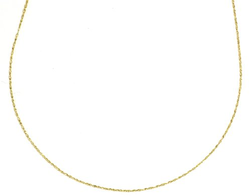14k Gold Light Rope Chain Necklace