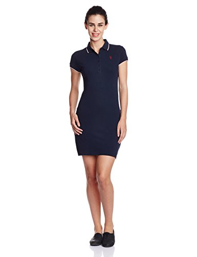 ccc40eec4 U.S.Polo Assn. Women s Cotton Cut-Out Dress Price in India