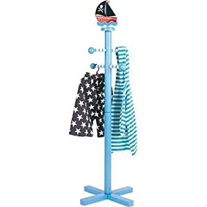 Blue Pirate Boat Children's Clothes Stand