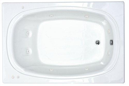 Sea Spa Tubs S4872Cwr Tubs Charleston 48 By 72 By 23-Inch Rectangular Whirlpool Jetted Bathtub, White