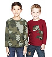 2 Pack Pure Cotton Dinosaur T-Shirts